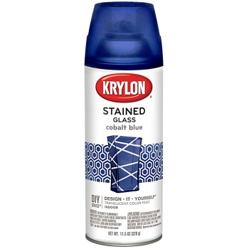 Stained Glass Aerosol Spray Paint, Cobalt Blue  ~ 11.5 oz