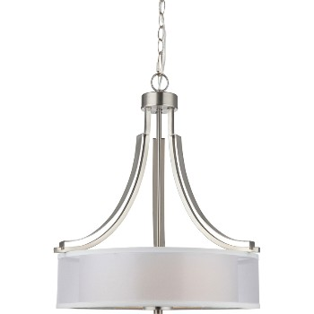 El Dorado Series Chandelier,  3 Light ~ Satin Nickel