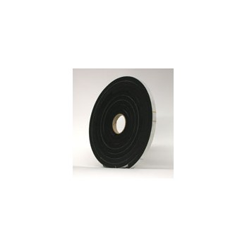 Black Sponge Rubber, 3 / 8 x 3 / 8 inches x 1 0 feet