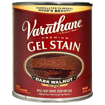 Rust-Oleum 224493H Varathane Gel Stain, Dark Walnut ~ Quart
