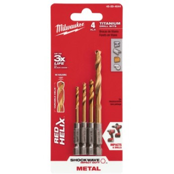 Milwaukee Tool  48-89-4644 4pc Hex Drl Bit Set