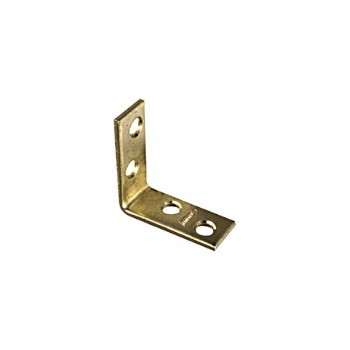 Brass Corner Brace, Visual Pack 115 3 x 3/4 inches