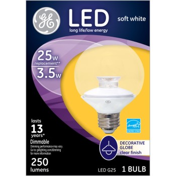 LED Globe Bulb - 3.5 watt/25 watt ~ Clear