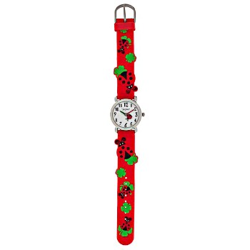 Kids Wristwatch, Ladybug Band