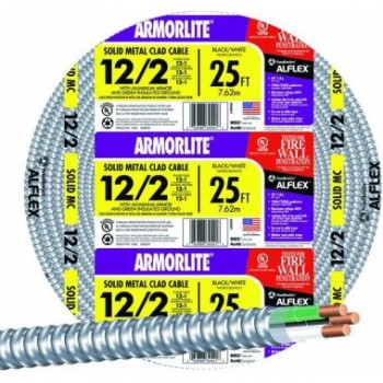 Armorlite Type MC Metal Clad Cable ~ 25 ft