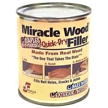 HF Staples  902 Miracle Wood Quick-Dry Filler ~ 1/2 Lb