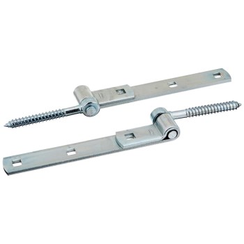 Screw Hook/Strap Hinge, Zinc Plated ~ 8""