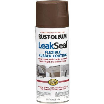 LeakSeal Flexible Rubber Coating, Brown ~ 12 oz Spray