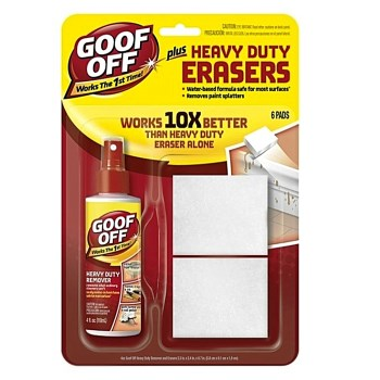Goof Off  Remover Spray Plus Heavy-Duty Erasers Plus