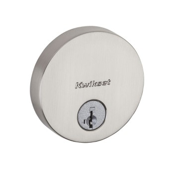 Uptown Low Profile Round Deadbolt - Satin Nickel