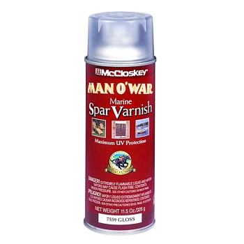 Man O' War Spar Marine Varnish, Gloss ~ 11.5 oz Spray