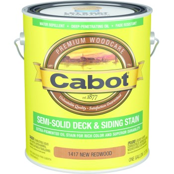 Cabot 01-1417 Semi-Solid Deck Stain, New Redwood  ~ Gallon