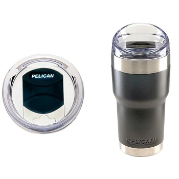 Pelican  TRAV-SD22-BLK Thermal Travel Tumbler w/Slide Lid,  Black ~ 22 oz.