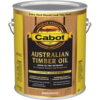 Cabot 01-3457 Australian Timber Oil, Amberwood  ~ 1 Gallon