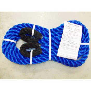 "Triple S Rope  TS-12.5LL20 Polypropylene Loop x Loop Tow Rope,  12,500 Lb ~  7/8"" x 20 Ft"
