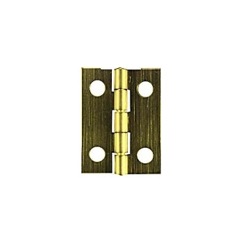 National  Solid Brass/Antique Brass Hinge, Sol Solid 1800 1- 1 /2 x 7/8