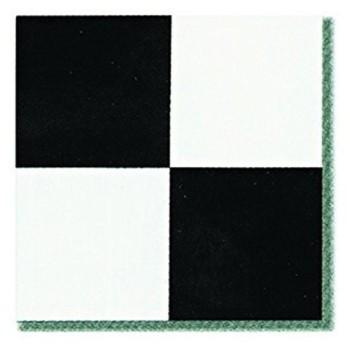 45 Pieces 12X12 Vinyl Stick On Tiles Villa Nova Black and White Self Adhesive Flooring RT9503