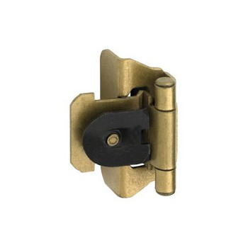 Overlay Double Demountable Hinge - Burnished Brass Finish - 0.25 inch
