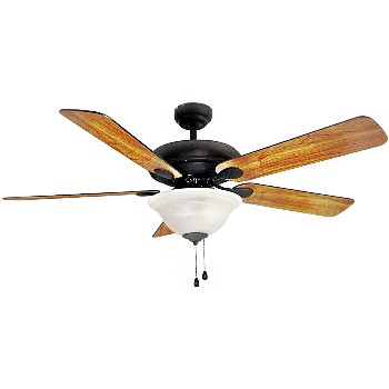Ceiling Fan, Tuscany w/Wrought Iron ~ 52""