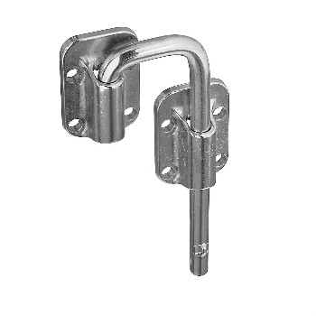 Sliding Door Latch, Nickel  ~ 1.5""