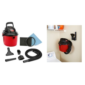 Shop Vac 2036000 HangOn  Series Wet/Dry 2.5 HP Shop Vac  ~  2 1/2 Gallon Capacity