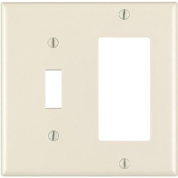 Combination Switch and GFCI Outlet Plate - ~ Light Almond