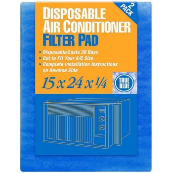 "True Blue Fiberglass Air Conditioning Filter Pad ~ 15"" x 24""  x 1/4"""