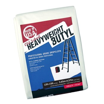 Old School Heavy Weight Butyl Dropcloth ~ 12 Ft x 15 Ft