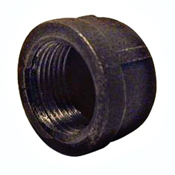 Pipe Cap, Black ~ 1/2""