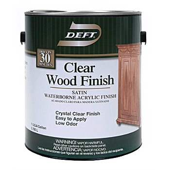 Waterborne Clear Wood Finish,  Satin ~ Gallon