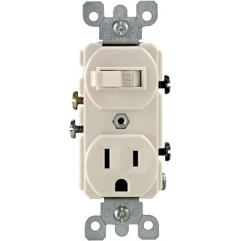 Combo Switch and Outlet ~ Light Almond