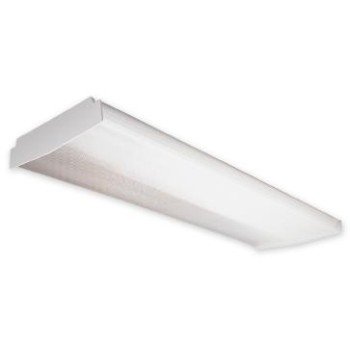 "Wrap-Around Ceiling Fixture, White ~ 9"" x 3 1/4"" x 48"""