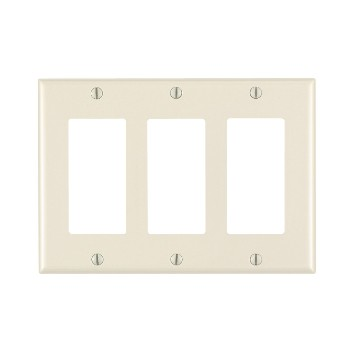 Decora Wall Plate - 3-gang ~ Light Almond
