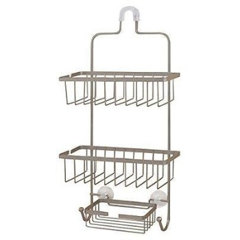 Shower Caddy, Large ~ Brushed Nickel