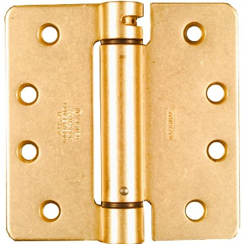 Spring Hinge, Adjustable - Brass  ~  4 x 4 inches