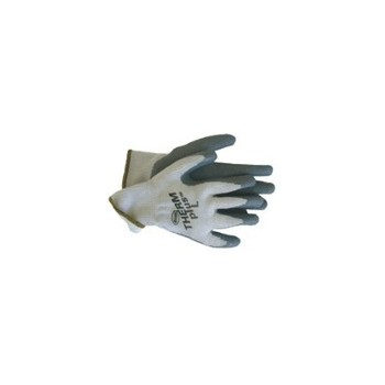 Knit Gloves - Fleece Lined - Latex Palm - Large