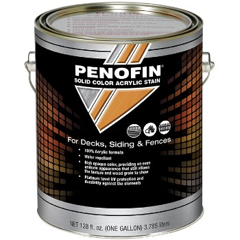 Solid Color Acrylic Stain for Decks/Siding/Fences,  Medium Solid Base ~ Gallon