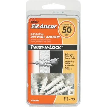 ITW/Ramset 25200 Twist-N-Lock  Drywall Anchor, 50 lb ~  Pack of 25
