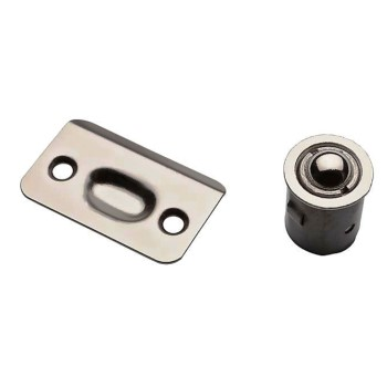 National N830-109 Drive-In Ball Catch for Cabinet Doors,  Satin Chrome