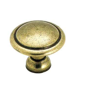 Knob - Light Brass Finish -  1 3/8 inch