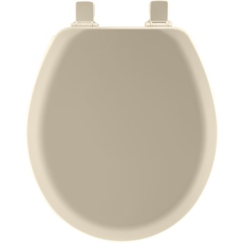 Toilet Seat, Round Molded Wood ~ Bone
