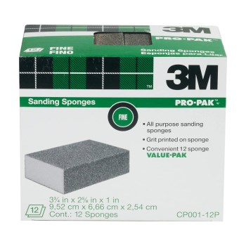 3M CP001-12P All Purpose Sanding Sponge ~ Fine Grit