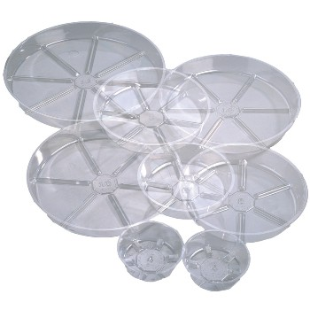 6in. Clear Plastic Saucer