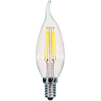Led 2pk Cl Flm Bulb