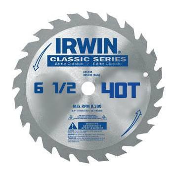 Irwin  ATC Saw Blade, 6 1/2 x 40t