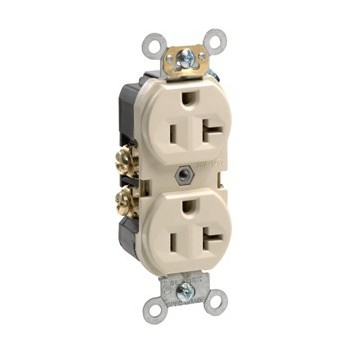 Commercial Grade Duplex Receptacle - 20 Amp ~ Ivory