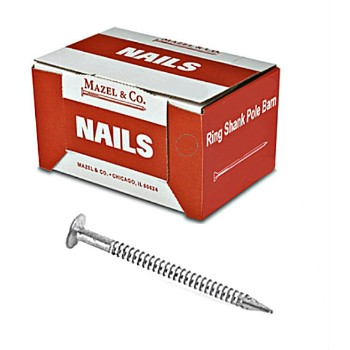 Ring Shank Pole Barn Nail, 5 Inch - 50 Pound Box