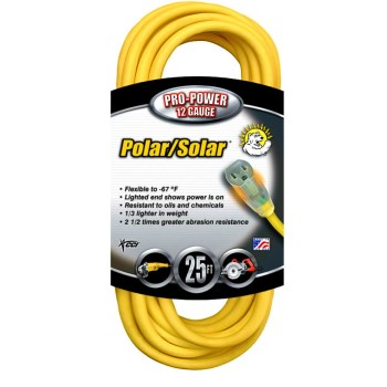 Coleman Cable 01687 Outdoor Extension Cord ~ 25 feet
