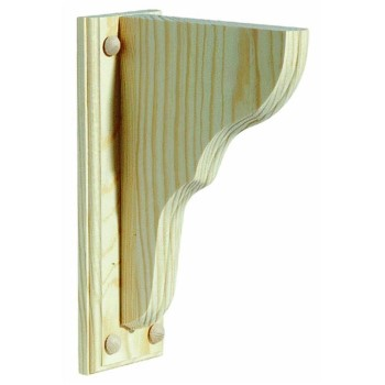 "Shelf Bracket,  Unfinished Pine - 9.75 "" D  x 13"" H  x .75"" W"