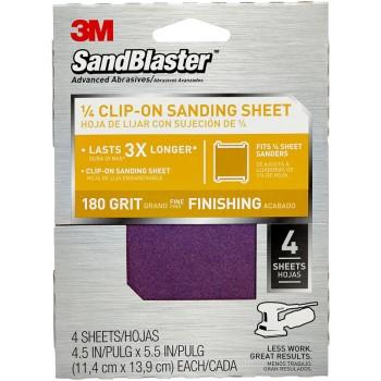 3M 05111154746 Sandpaper - Clip-on Palm Sander Sheet, 180 grit